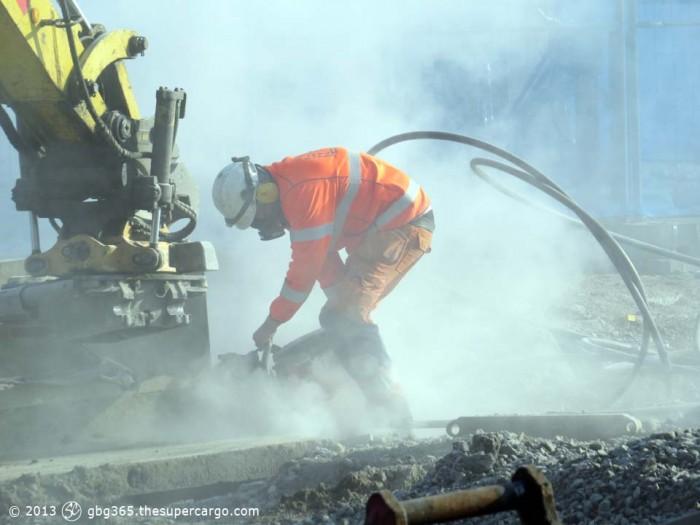 Cutting concrete