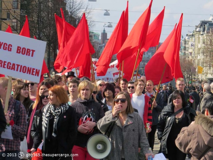 Red flags on May Day