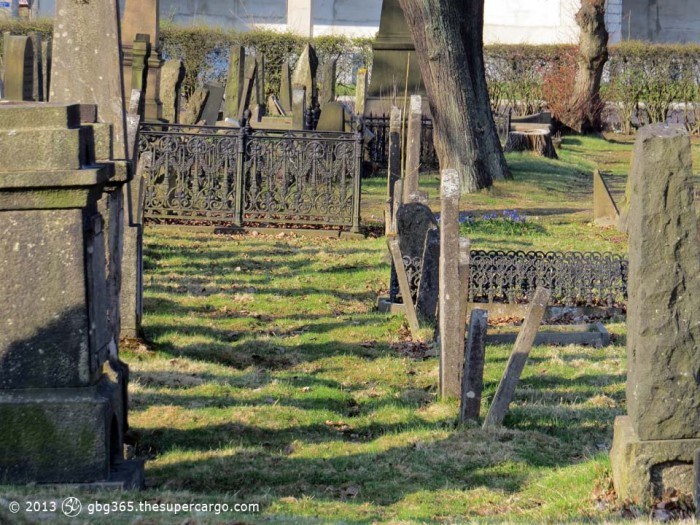 The Jewish cemetary - shadows across the graves