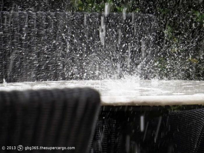 Sudden rainfall