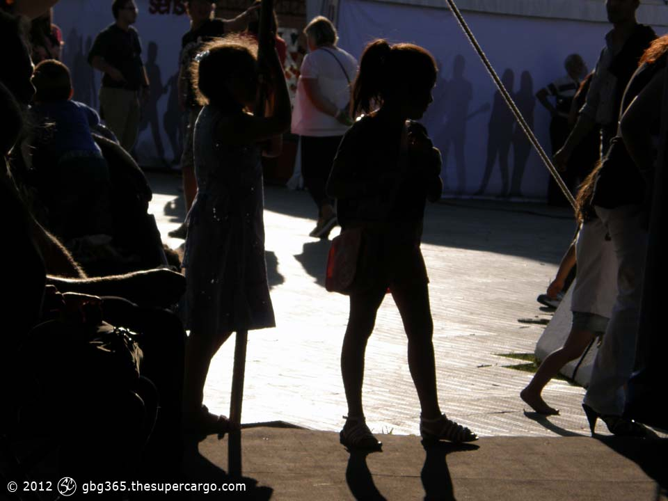 Girls in backlight