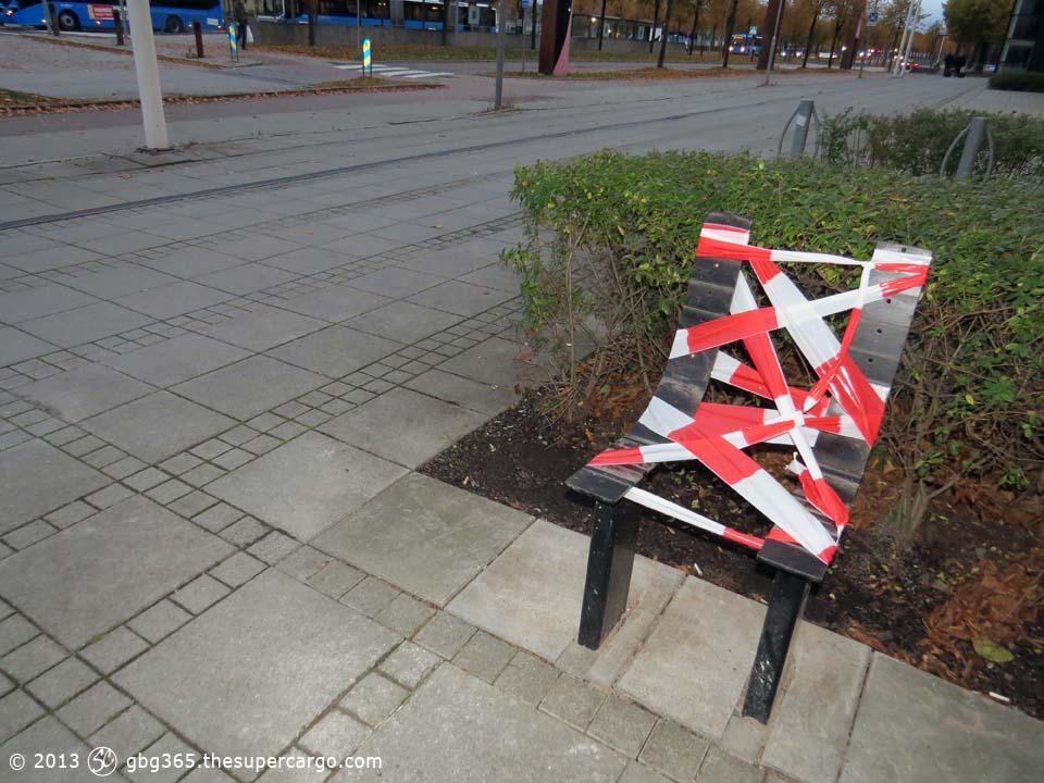 Warning chair