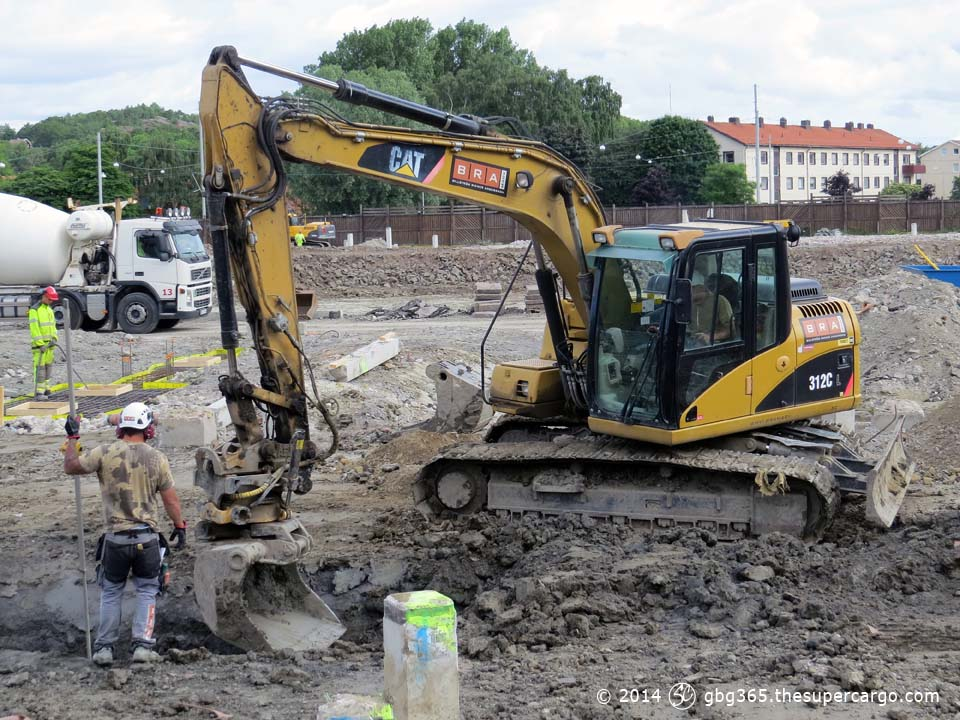 Häcken construction digging
