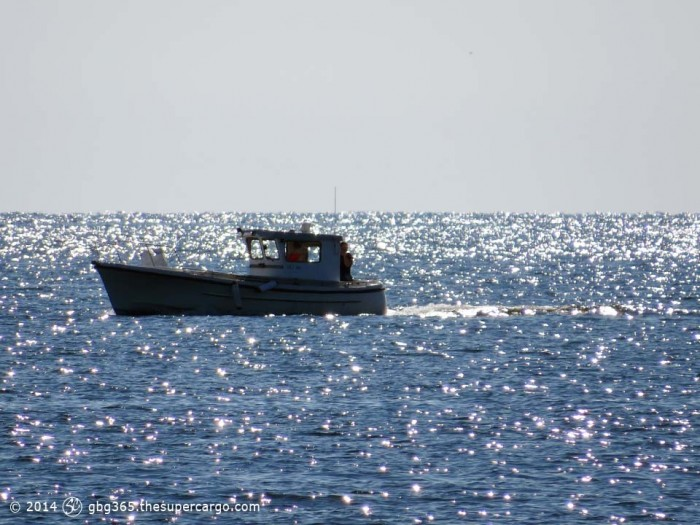 On the glittering sea