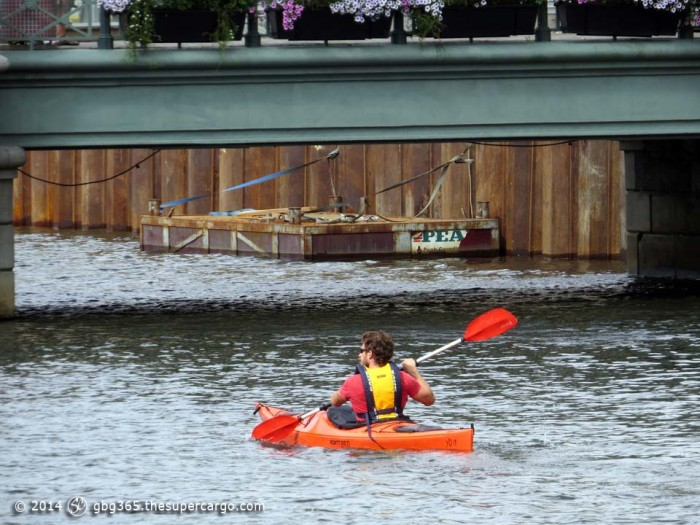 Kayakist in the Hamnkanal
