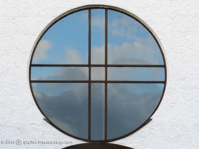 The sky in the round window