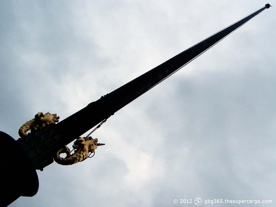 Flagpole with sea unicorns