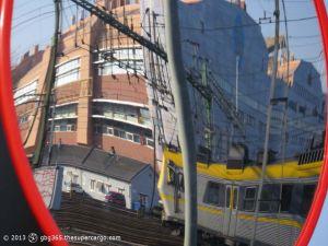 Inbound train reflected